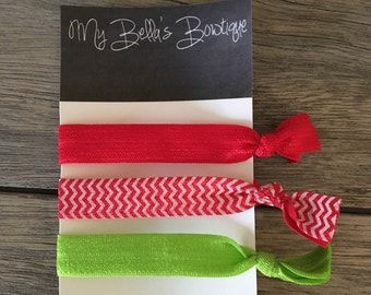 Holly Jolly Hair Ties- LIMITED SUPPLY