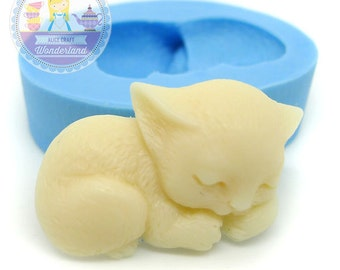 Sleeping Cat 26mm Bakery Flexible Push Mold 170m* BEST QUALITY