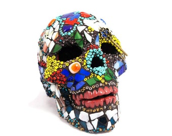 beaded sugar skull lamp day of the dead skull gothic skull