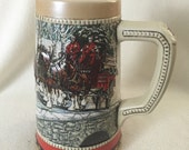 1988 Budweiser Stein Tankard Collectors Series Holiday Harness