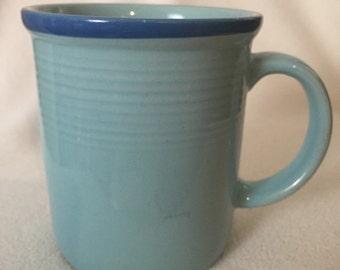 RIO Stoneware Japan Turquoise Blue Mug Vintage