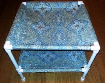 The Hammock Stack - Premium Cotton Fabric - Pale Blue Paisley Pattern