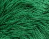MoHair 60 Inch Faux Fur Green Fabric by the Yard, 1 yard