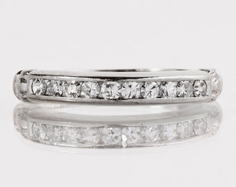 Antique Wedding Band - Antique Platinum Diamond Wedding Band