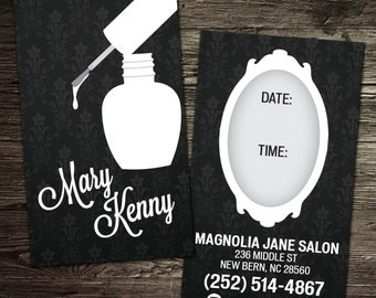 Custom Manicurist Business Cards - Nail Tech Business Cards PROFESSIONALLY printed!