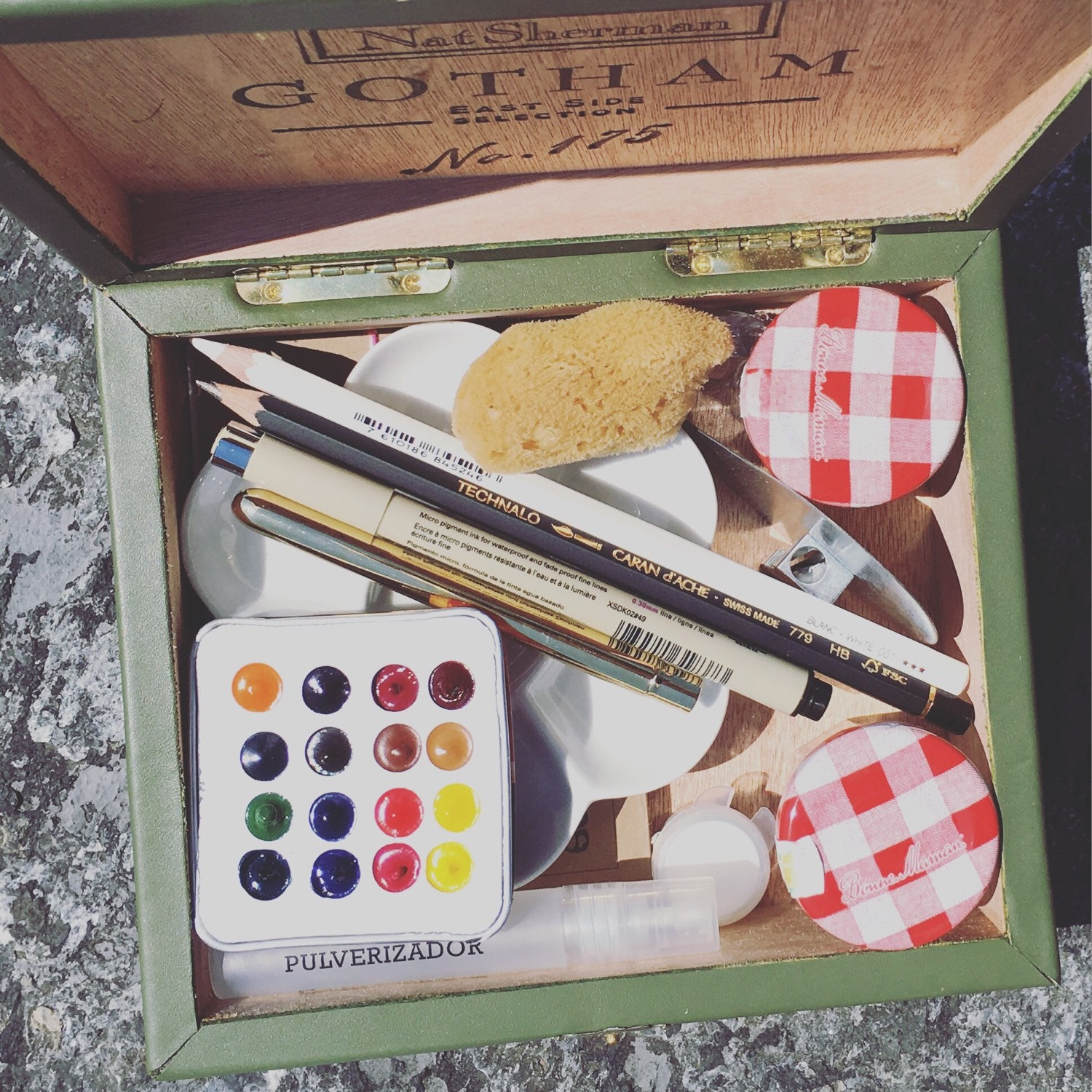 Travel Paint Set M Graham Watercolors Arches By Thespeckledkat