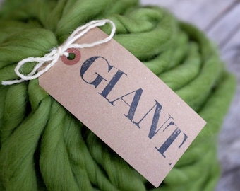 "MERINO - GIANT Handspun Yarn - 10,5 oz / 300gr - Blanket Yarn - Super Chunky Yarn - ""IVY"""