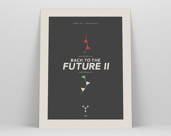Minimalist Back to the Future ~ Minimal Movie Poster, Retro Art Print by Christopher Conner