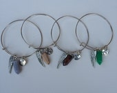 Charm Bracelet, Bangle Bracelet, Wings, Gemstone Bracelet, Earth, World Globe