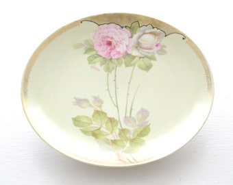 Vintage Handpainted & Artist Signed Plate by PSAG Bavaria, Germany, Replacement China, Tea Party