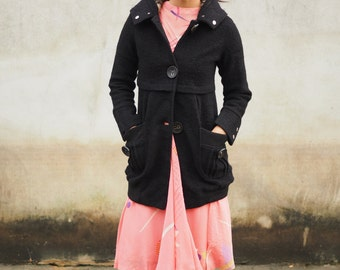 Vintage Pea Coat, Vintage Coat, Vintage Jacket, Retro Peacoat, Vintage Trent Coat, Women's Winter Coat, Women's Peacoat