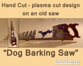Metal Art Dog Barking up ...