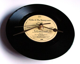 "Echo And The Bunnymen Record CLOCK ""The Game"" 7"" vinyl record Gift gift for guys girls rock indie rock post punk new wave music fans"