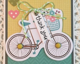 THANK YOU  - Handmade Greeting Card - ThePaperTrails
