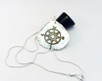 Journey Jewelry, Compass Necklace, Silver Compass Pendant, Compass Jewelry, Graduation Gift, Traveler, Bohemian Necklace, Wanderlust Jewelry