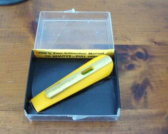 Vintage 1970's Craftsman Pocket Level No. 4624, Original Box w/ Instructions, Nice Shape!