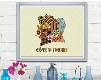 D coration murale africaine femme africaine art par iqstudio for Decoration murale africaine