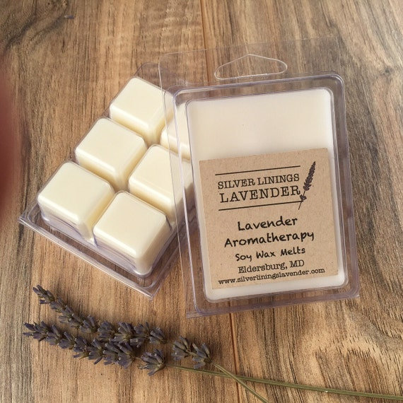 Lavender Aromatherapy Soy Wax Melts / All Natural Lavender Aromatherapy / GMO Free Soy Wax Melts / Calming Aromatherapy / All Natural Wax