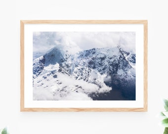 Mountain Printable Wall Art Instant Download Landscape Snow Peak Photo Contemporary Wall Art Printable Poster Digital Print Art Printable