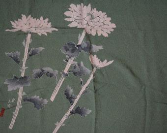 Chirimen wrapping cloth, vintage Japanese furoshiki, eco gift wrapping cloth