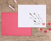 Letterpress Valentine's Greeting Card - Cupid's Arrow