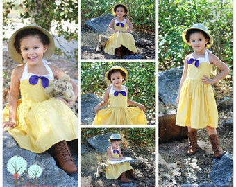 Jane of Tarzan Inspired  Dress, Co-play, School Play, Custom Costume, Birthday, Dress-up, Children sizes, Disney Vacation