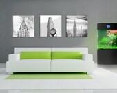 3 piece of Monochrome Canvas work, 20x60