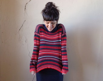 italian knit sweater/ stretchy turtleneck// sm.med