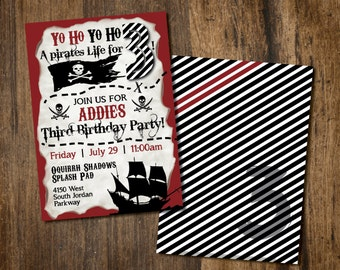 Pirate Birthday Party Invite