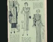 vintage pattern catalog, dress catalog, high fashion, 1920's 1930's