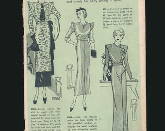 vintage pattern catalog, Pictorial Review, dress catalog, high fashion, 1930's