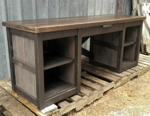 Reclaimed Industrial Desk by EchoPeakDesign on Etsy