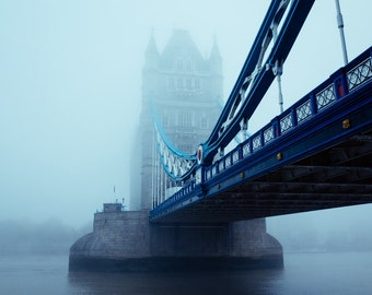 Mist, Tower Bridge London. Photography print.