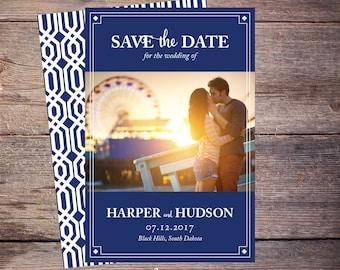 Save the Date Postcard, Save-the-Date Card, Photo, DIY Printable, Digital File, DIY Save the Date - Harper