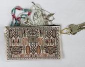 Ethnic Coin Purse, Exotic Fabric Pouch, Kilim Bag, Anatolian Motifs, Turkish Pouch, Boho Coin Purse, Fabric Wallet