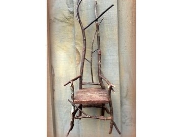 Tiny Twig Miniature Rustic Chairs Made to Order