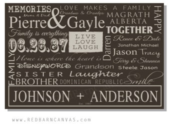 For the blended family, Our Love Story, Personalized Canvas Wall Art, Gallery Wall Art, For the new couple