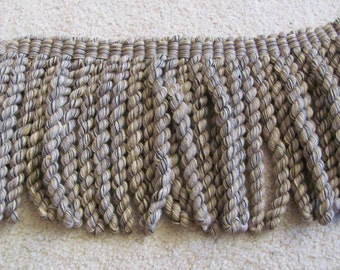 "Heavy Thick Brown Bullion Fringe Upholstery Trim  - 9"" Inch Long - 2.5 Yards Total (07)"