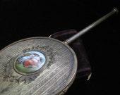 Brass Hand Mirror Limoges Center Vanity Piece Handmirror Vintage