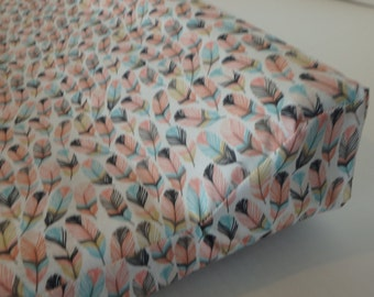Feathers in Tulip  Changing Pad Cover