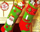 """Vintage 70's - """"Twas The Night Before Christmas"""" - Knit STOCKING - PDF Pattern - Instant Download"""