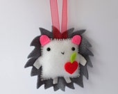 Little hedgehog felt plush ornament