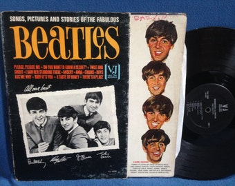 "RARE, Vintage, The Beatles - ""Songs, Pictures, and Stories of the Fabulous"" Vinyl LP Record Album, Original First Press, Introducing Vee Jay"