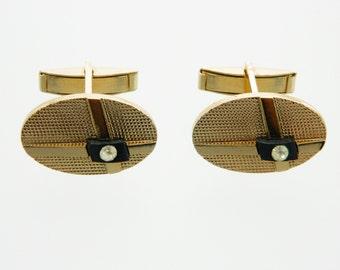 Oval Onyx Cuff Links - CL004