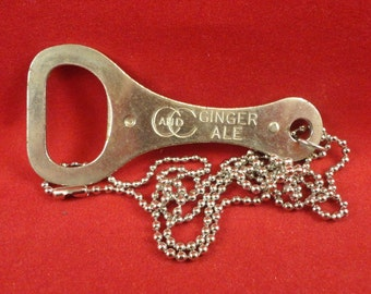 Cool Vintage 1950s C & C Ginger Ale bottle opener necklace