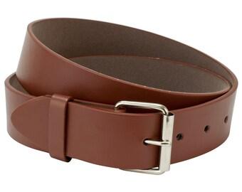 Brown Leather Belt Strap, Mens Belt, Womens Belt, Size Small Belt Strap, Interchangeable Snap Belt Strap With Silver Belt Buckle , Kids Belt