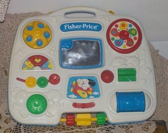 Busy Box Fisher Price 1993 ,Crib Toy, Vintage baby Toy, Gift idea :)S