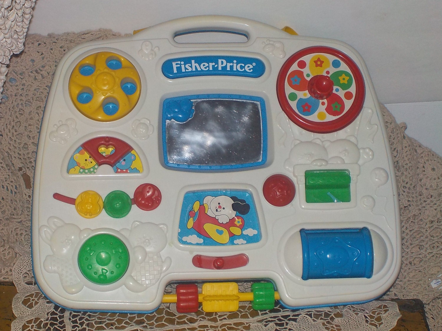 Fisher Price Crib Toys : Busy box fisher price crib toy vintage baby gift
