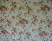 Vintage Bed Sheet Set, Ralph Lauren, Gorgeous Floral Print, King Bed Size, 1 Flat Sheet, 1 Fitted Sheet, 2 Pillowslips