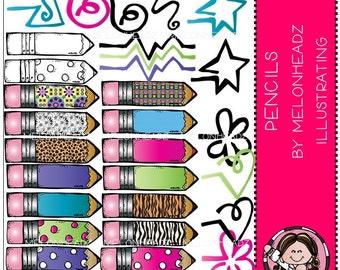 Pencils clip art - COMBO PACK
